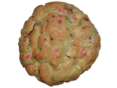 Gooey on the Inside Birthday Cake Cookie
